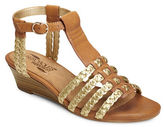 Aerosoles Bittersweet Faux Leather T-Strap Wedge Sandals