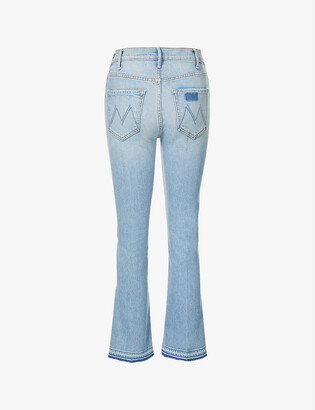 Mother Hustler high-rise flared-leg stretch-denim jeans