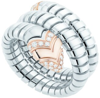 Bvlgari Rose Gold, Diamond and Steel Serpenti Ring