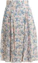 Prada Sable floral-print crepe skirt