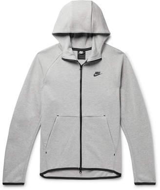 Nike Sportswear Melange Cotton-Blend Tech Fleece Zip-Up Hoodie - Men - Gray