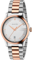 Gucci Medium G-Timeless With Steel And Pink Gold Pvd Bracelet
