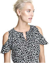 Joe Fresh Women's Cold Shoulder Dress, Teal (Size XL)