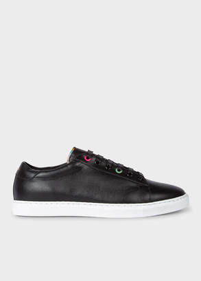 Women's Black 'Hassler' Leather Trainers With 'Archive Rose' Footbeds