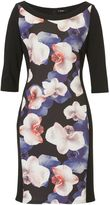 Vera Mont Floral panelled shift dress