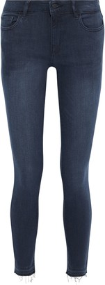 DL1961 Florence Frayed Mid-rise Skinny Jeans