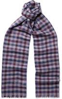 Loro Piana Checked Cashmere And Silk-blend Scarf - Multi