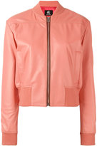 Paul Smith Sorbet leather bomber jacket - women - Leather/Acetate/Viscose - 44