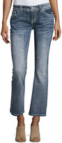 Miss Me Relaxed Boot-Cut Jeans W/Embroidery, Medium Wash 129