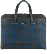 Furla perforated decoration flat tote - men - Leather - One Size