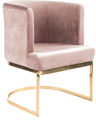 Statements By J Hazel Gold Chrome Chair