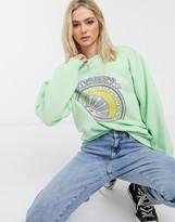 Daisy Street oversized sweatshirt with stargazer print