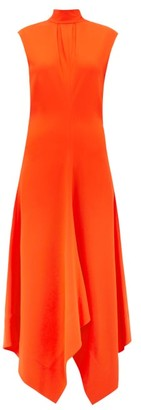 Proenza Schouler Handkerchief-hem Cady Dress - Red