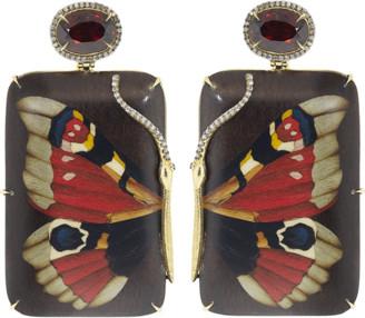 Silvia Furmanovich Red Garnet Butterfly Earrings