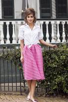 Shabby Apple Park Ave. Midi Skirt Light Pink