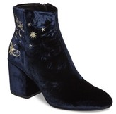Ash Women's Elixir Embroidered Velvet Bootie