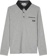 BOSS Embroidered logo long-sleeved polo shirt 4-16 years
