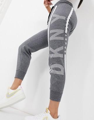 DKNY cuffed logo jogger in grey