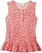 Kate Spade Pleated Top (Toddler/Kid) - Jungle Vine - 5