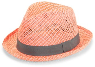 Paul Smith Two Tone Straw Fedora Hat