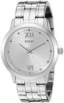 GUESS Women's U0634L1 Vintage Inspired Dressy Silver-Tone Watch