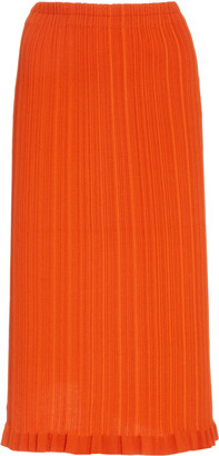 Acne Studios Kora Ribbed Cotton-Blend Knee-Length Skirt