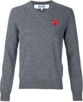 Comme des Garcons embroidered heart jumper - men - Wool - S