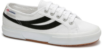 Superga Womens 2953 Swallowtail Cotu Suede Sneakers in White Black