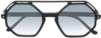 Cutler & Gross Angular Frame Sunglasses