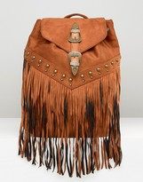 Missguided Western Fringed Backpack