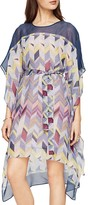 BCBGMAXAZRIA Suzy Printed Silk Handkerchief-Hem Dress