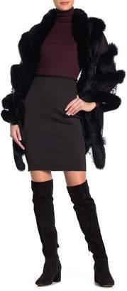 La Fiorentina Genuine Fox Fur Lace Wrap