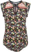 Veronica Beard printed sleeveless blouse