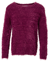 John Lewis Eyelash Knit Jumper, Magenta Berry
