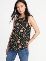 Old Navy Luxe Printed Curved-Hem Tank for Women