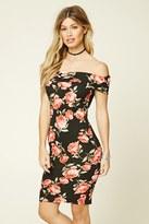 Forever 21 FOREVER 21+ Floral Off-The-Shoulder Dress