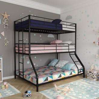 DHP Metal Triple Bunk Bed, Twin/Twin/Full, Silver
