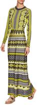 Temperley London Gayla Intarsia Ribbed Collar Maxi Dress