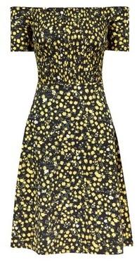 Dorothy Perkins Womens **Tall Black Floral Ditsy Print Cotton Dress, Black