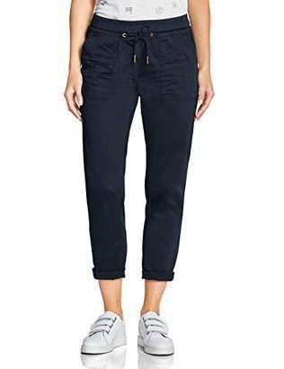 Cecil Women's 372389 Chelsea Loose Fit Trouser, Slate Green 11687, W28/L28 (Size: 28)