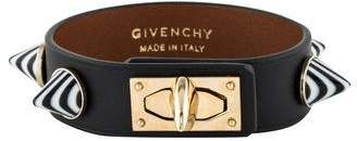 Givenchy Cone Studded Leather Shark Tooth Bracelet