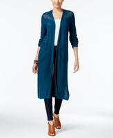Style&Co. Style & Co Style & Co Petite Pointelle Open-Front Duster Cardigan, Created for Macy's