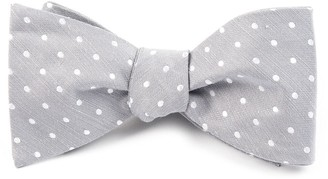 Tie Bar Dotted Dots Silver Bow Tie