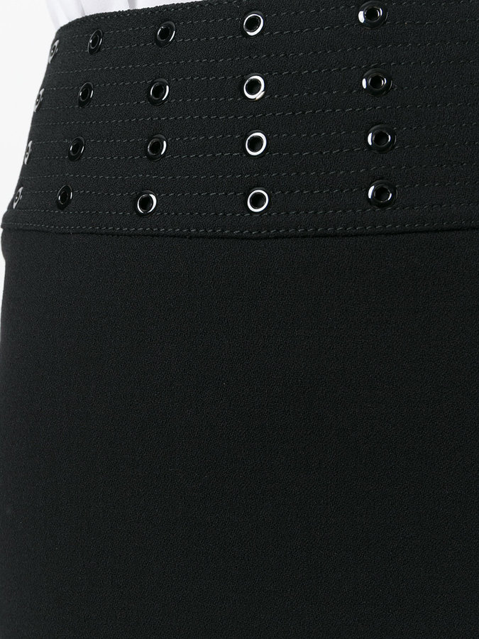 Emilio Pucci eyelet mini skirt