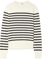 Saint Laurent Marino Striped Cashmere Sweater - Ivory