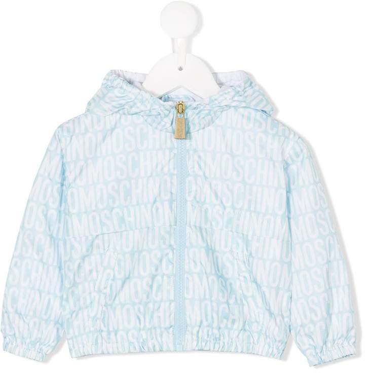 Moschino Kids logo print jacket