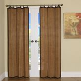 Bed Bath & Beyond Easy Glide All-Natural Bamboo Ring Top Window Curtain Panels