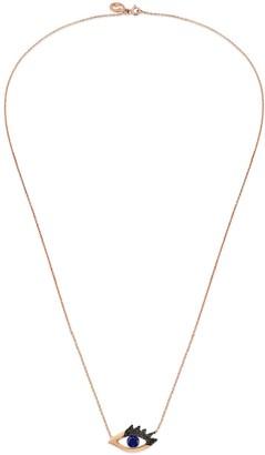 Black Diamond Selda Jewellery Blue Sapphire & Evil Eye Necklace