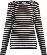 Frame Striped linen T-shirt