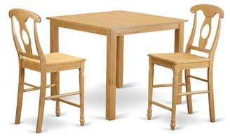 East West Furniture Cafe 3 Piece Counter Height Pub Table Set East West Furniture